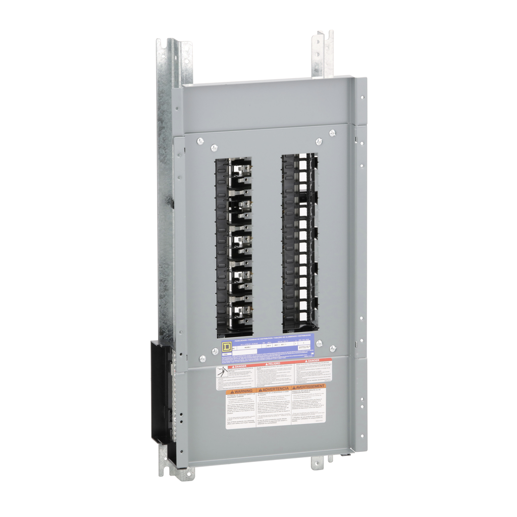 Mayer-Panelboard interior, NQ, main lugs, 100A, Cu bus, 30 pole spaces, 3 phase, 4 wire, 240 VAC, 48 VDC-1