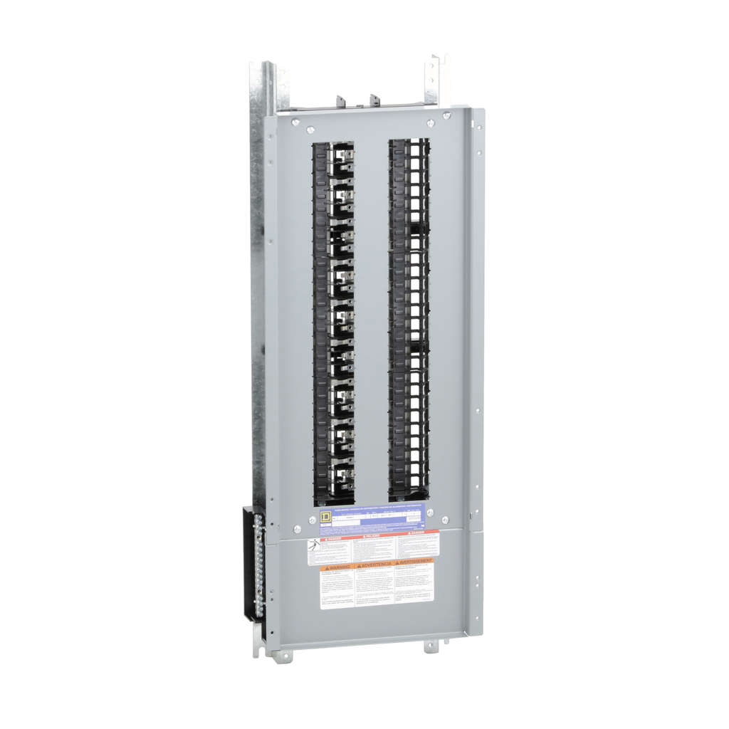 Mayer-Panelboard interior, NQ, main lugs, 225A, Al bus, 54 pole spaces, 3 phase, 4 wire, 240 VAC, 48 VDC-1