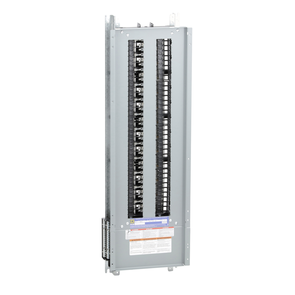 Mayer-Panelboard interior, NQ, main lugs, 225A, Al bus, 72 pole spaces, 3 phase, 4 wire, 240 VAC, 48 VDC-1