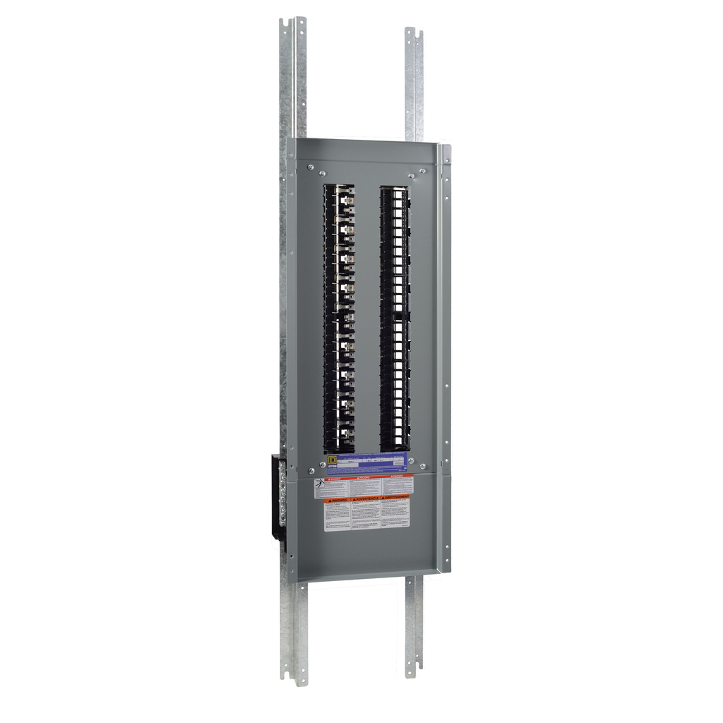 Mayer-Panelboard interior, NQ, main lugs, 600A, Cu bus, 54 pole spaces, 3 phase, 4 wire, 240 VAC, 48 VDC-1