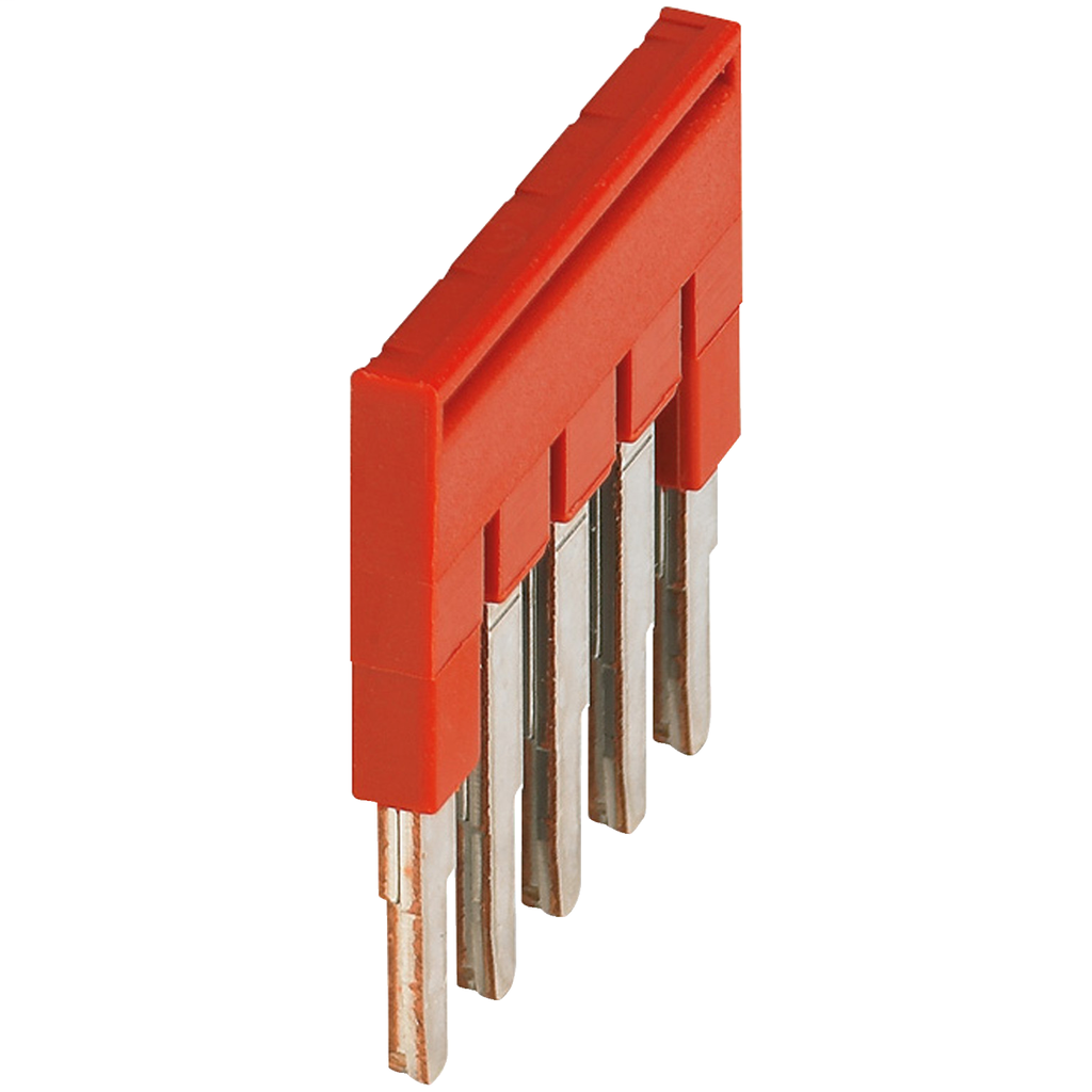 Mayer-PLUG-IN BRIDGE, 5POINTS FOR 2,5MM² TERMINAL BLOCKS, RED-1