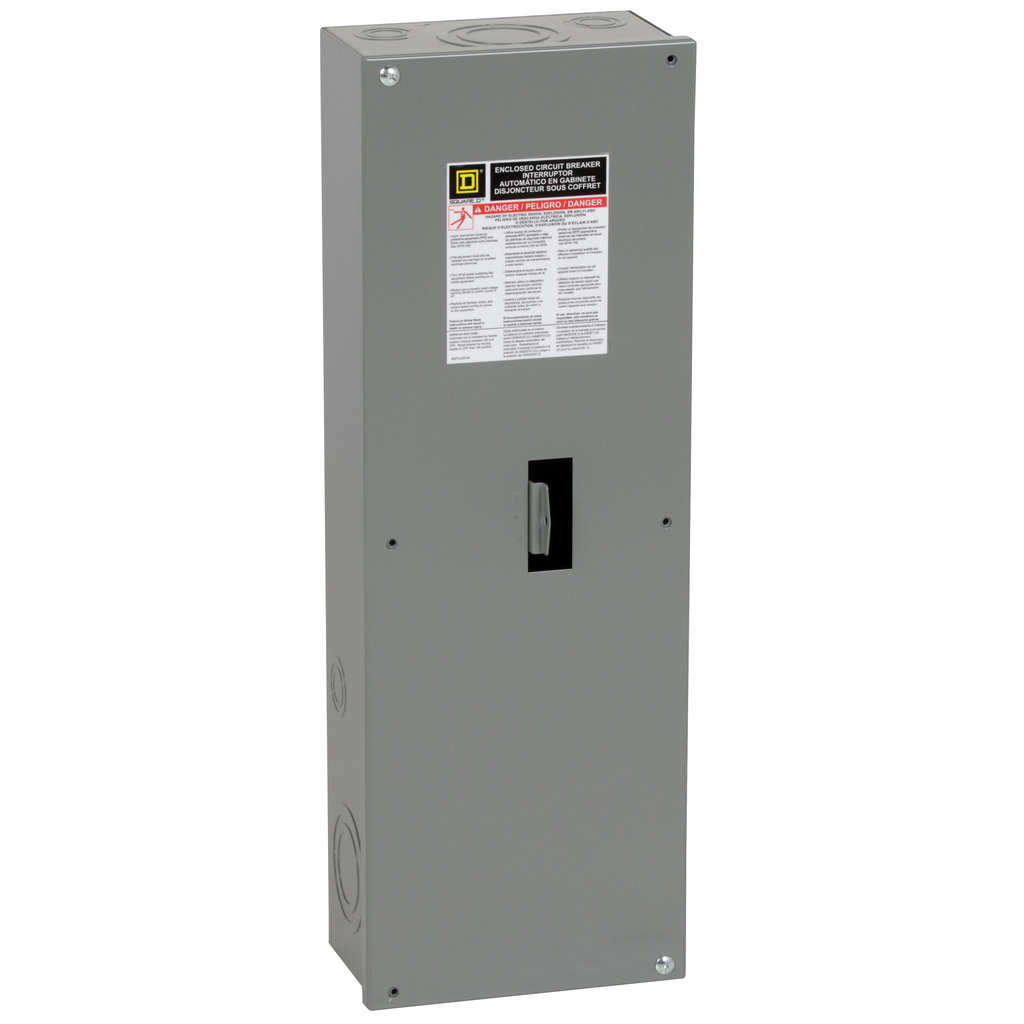 Square D JD250S 13.75 x 4.33 x 40.5 Inch NEMA 1 Circuit Breaker Enclosure