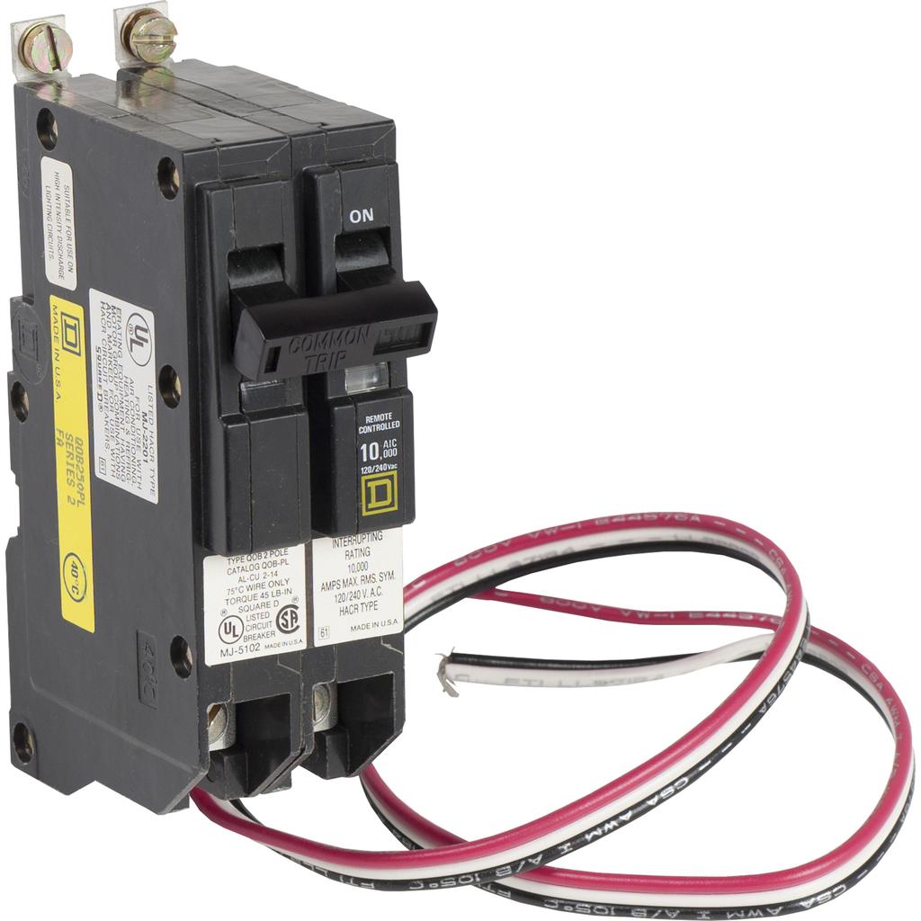 Mayer-Mini circuit breaker, QO, 50A, 2 pole, 120/240 VAC, 10 kA, Powerlink, bolt on mount-1