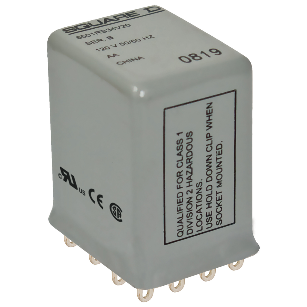 Mayer-Plug in relay, Type R, hermetically sealed miniature, 5A resistive at 240 VAC, 14 blade, 4PDT, 4 NO, 4 NC, 24 VAC coil-1