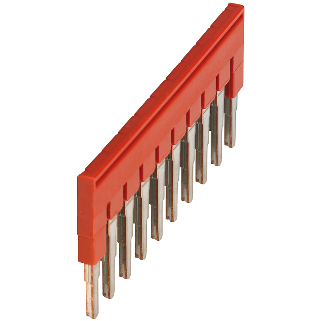 Mayer-PLUG-IN BRIDGE, 10POINTS FOR 4MM2 TERMINAL BLOCKS, RED-1
