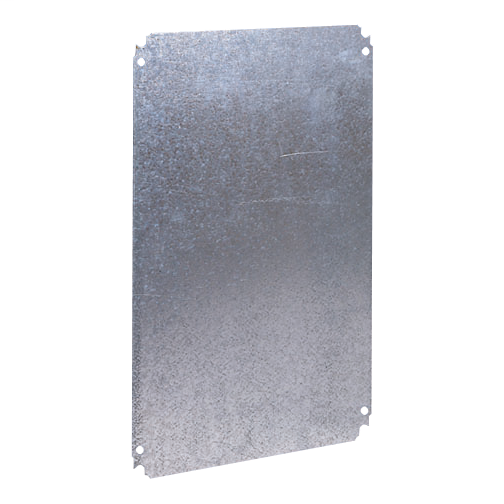 Mayer-Plain mounting plate H600xW600mm made of galvanised sheet steel-1