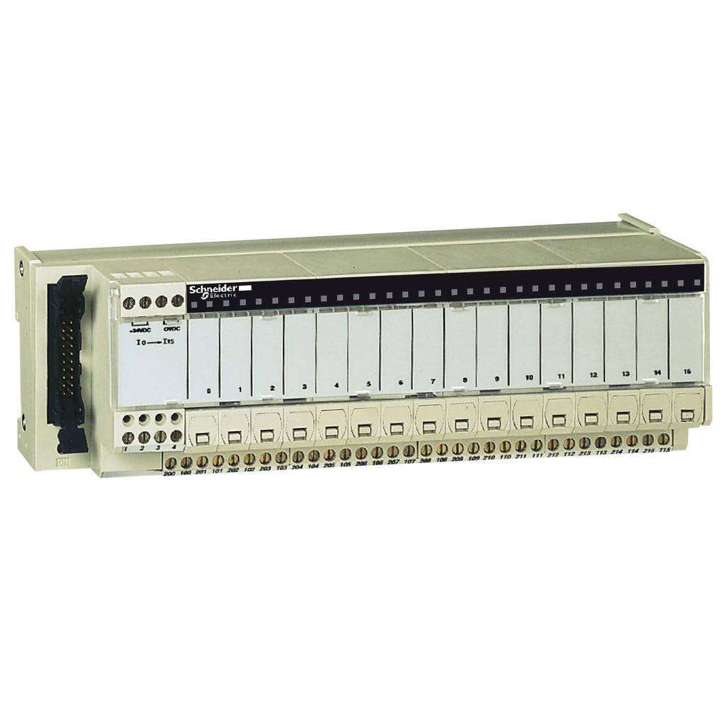 Mayer-Passive connection sub-base ABE7 - 16 outputs - fuses - Led - isolator-1