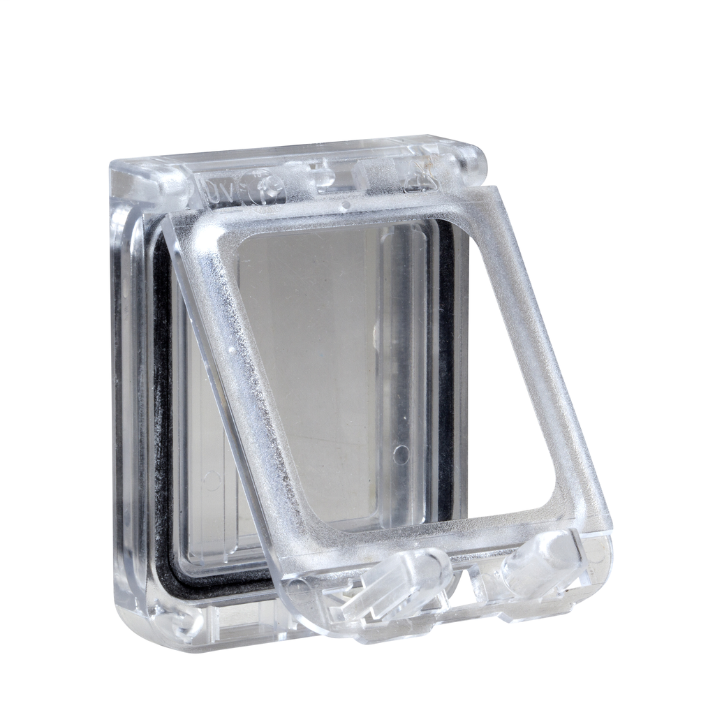 Mayer-Plastic window with hinged transparent cover. IP 65, L78xW165xD15mm.-1