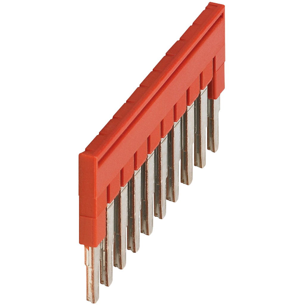 Mayer-PLUG-IN BRIDGE, 10POINTS FOR 2,5MM² TERMINAL BLOCKS, RED-1