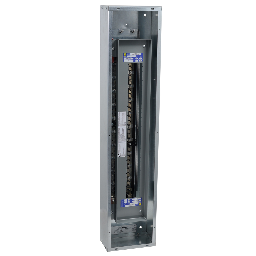 Mayer-Panelboard interior, NQ, main lugs only, 225A, Cu bus, 42 pole spaces, 3 phase, 4 wire, 240 VAC, 48 VDC, column width-1
