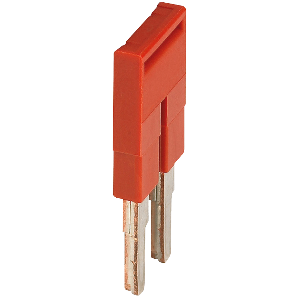 Mayer-PLUG-IN BRIDGE, 2POINTS FOR 4MM² TERMINAL BLOCKS, RED-1
