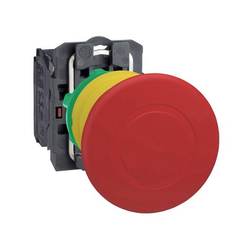 Mayer-Emergency stop switching off, plastic, red mushroom Ø40, Ø22 trigger latching push-pull, 1 NC-1