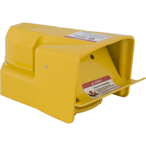 Mayer-Foot Switch, Harmony, industrial, oversized pedal and side shields with safety door, 10A at 600 VAC, DPDT contact-1