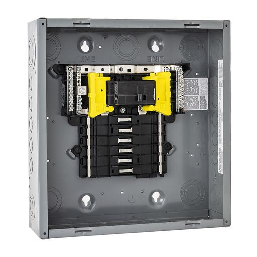 Mayer-Load center, QO, 1 phase, 12 spaces, 12 circuits, 100A convertible main breaker, NEMA1, UL-1