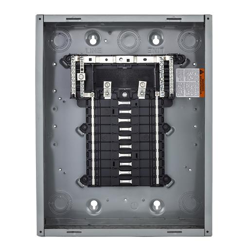 Mayer-Load center, QO, 1 phase, 24 spaces, 24 circuits, 150A convertible main breaker, PoN, NEMA1, UL-1