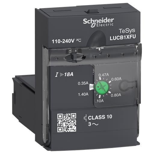Mayer-Advanced control unit, TeSys U, 0.35-1.4A, 3P motors, protection & diagnostic, class 10, coil 110-240V AC/DC-1