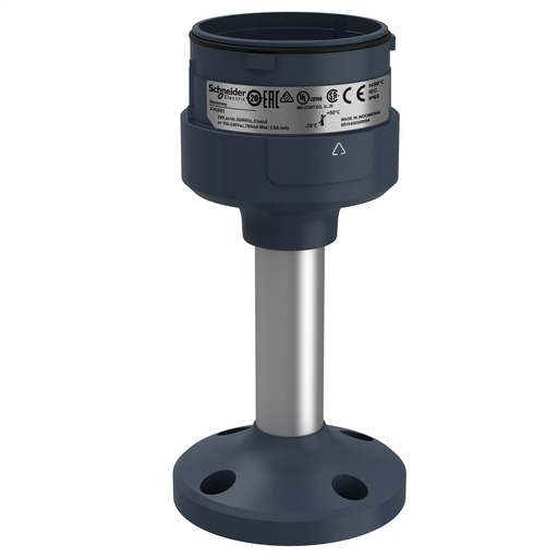 Mayer-Fixing plate with 100 mm aluminium pole for modular tower lights, black, Ø60-1