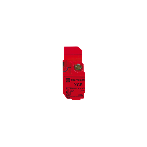 Mayer-Preventa XCS, safety switches, metal safety switch, 2 NC and 1 NO, slow break, 1 entry tapped 0.5 inch NPT-1
