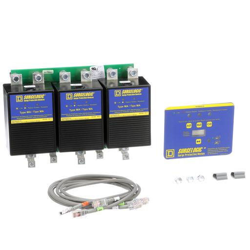 Mayer-OEM assembler kit, Surgelogic, 120kA, 480Y/277 VAC, 3 phase, 4 wire, SPD type 2-1