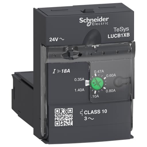 Mayer-Advanced control unit, TeSys U, 0.35-1.4A, 3P motors, protection & diagnostic, class 10, coil 24V AC-1