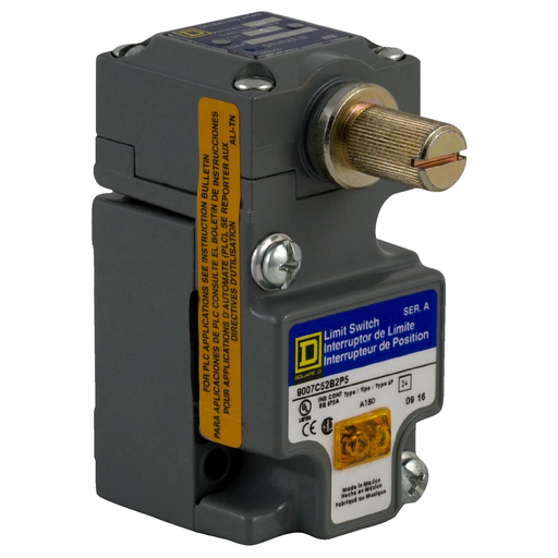 Mayer-9007C compact limit switch - 1 NO/NC - rotary head - CW+CCW - standard-1