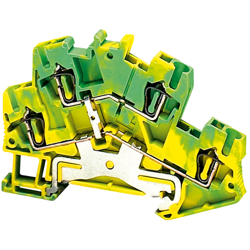 Mayer-SPRING TERMINAL, DOUBLE LEVEL, PROTECTIVE EARTH, 4 POINTS, 2,5MM², GR-1
