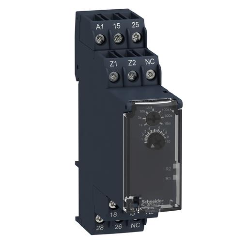 Mayer-Modular timing relay, 5 A, 0.05 s…10 min, 2 CO, delay on de-energization, 24...240 V AC/DC-1