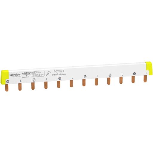 Mayer-Acti 9 - comb busbar - 1L+N - 18 mm pitch - 12 modules - 100 A-1