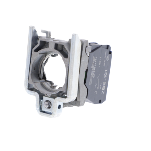Harmony, 22mm Push Button, XB4B operators, contact block, with mounting collar, 1 NO, screw clamp terminal