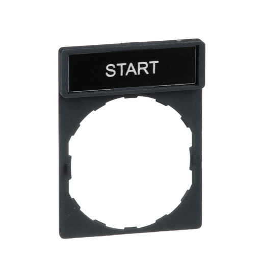 Harmony, 22mm Push Button, legend holder 30 x 40 mm, with legend 8 x 27 mm, marked START