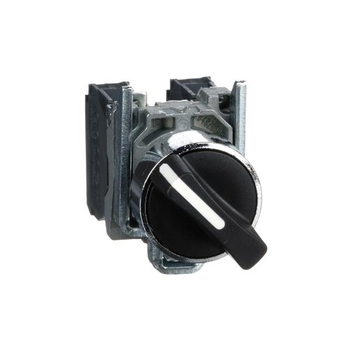Harmony, 22mm Push Button, 2 position selector switch, black, maintained, 1 NO and 1 NC, 600 V
