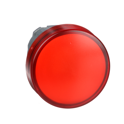 Harmony, 22mm Push Button, pilot light head, red, with plain lens, for integral LED