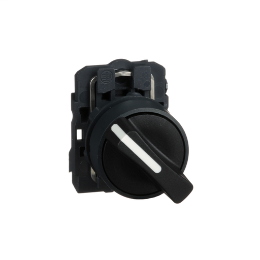 Harmony, 22mm Push Button, 2 position selector switch, black, maintained, 1 NO, marked OFF ON