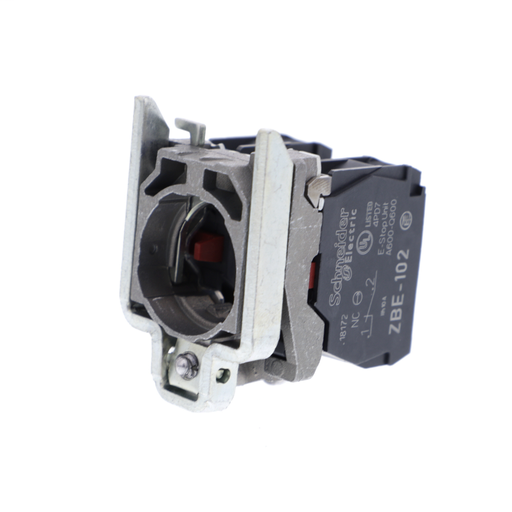 Harmony, 22mm Push Button, XB4B operators, contact block, with mounting collar, 2 NC, screw clamp terminal