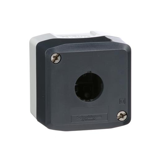 Harmony, enclosure, dark grey lid with light grey base, 1 opening, UL/CSA certified