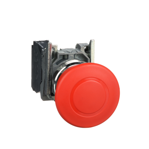 Harmony, emergency stop, latching push pull, red, 40 mm, 1 NC