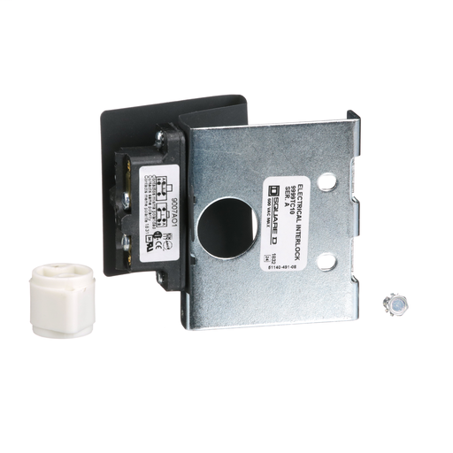 Disconnect mechanism, flange mounted, disconnect switch auxiliary contact kit, 15A, 1 pole, SPDT