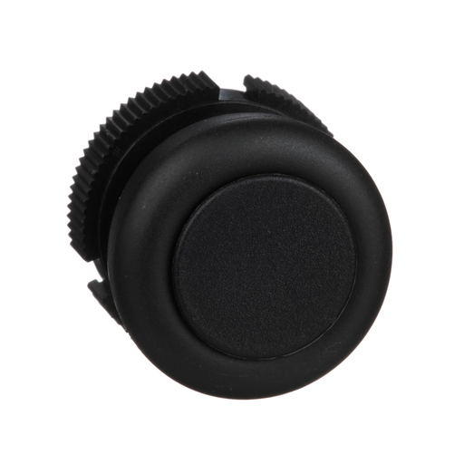 Harmony, round head for push button, spring return, black, booted