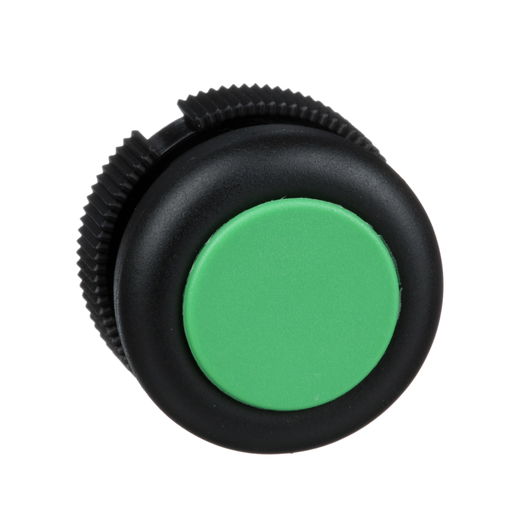 Harmony, round head for push button, spring return, green, booted