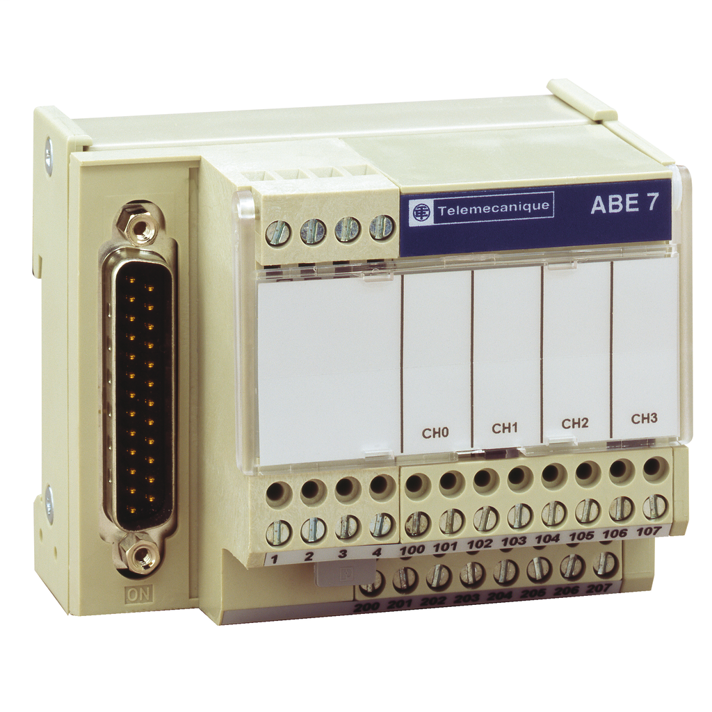 Mayer-Connection sub-base ABE7 - for distribution of 4 thermocouples-1