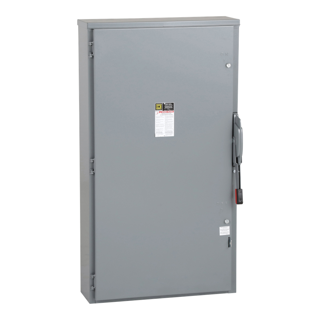 Square-D H326NR Safety Switch Fusible 240V 600A 3P NEMA-3R/Neutral , Single Throw