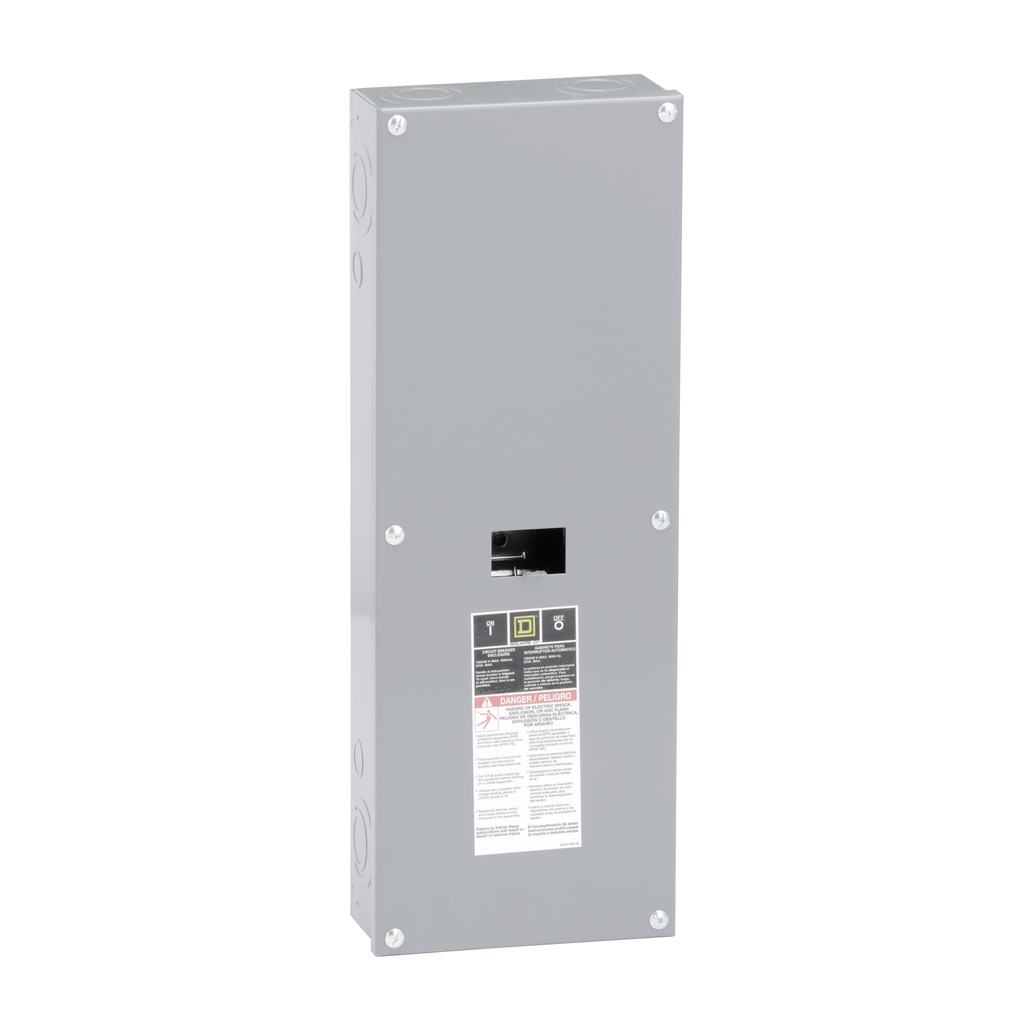 Square D QOM22225NS 225 Amp 8.55 x 3.95 x 23.92 Inch Steel NEMA 1 Surface Mount Circuit Breaker Enclosure