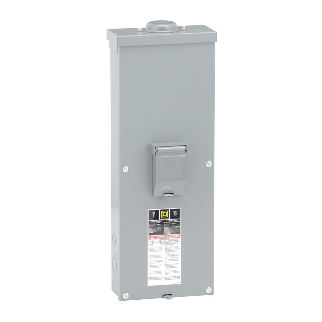 Square D QOM22225NRB 8.55 x 4.16 x 24.75 Inch 225 Amp Steel NEMA 3R Flush Mount Circuit Breaker Enclosure