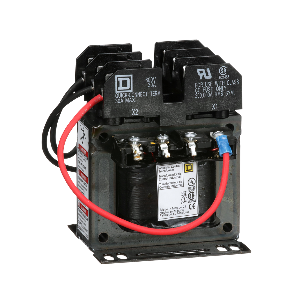 Square D 9070TF100D23 100 VA 120 x 240 VAC Primary 24 VAC Secondary 1-Phase Control Transformer