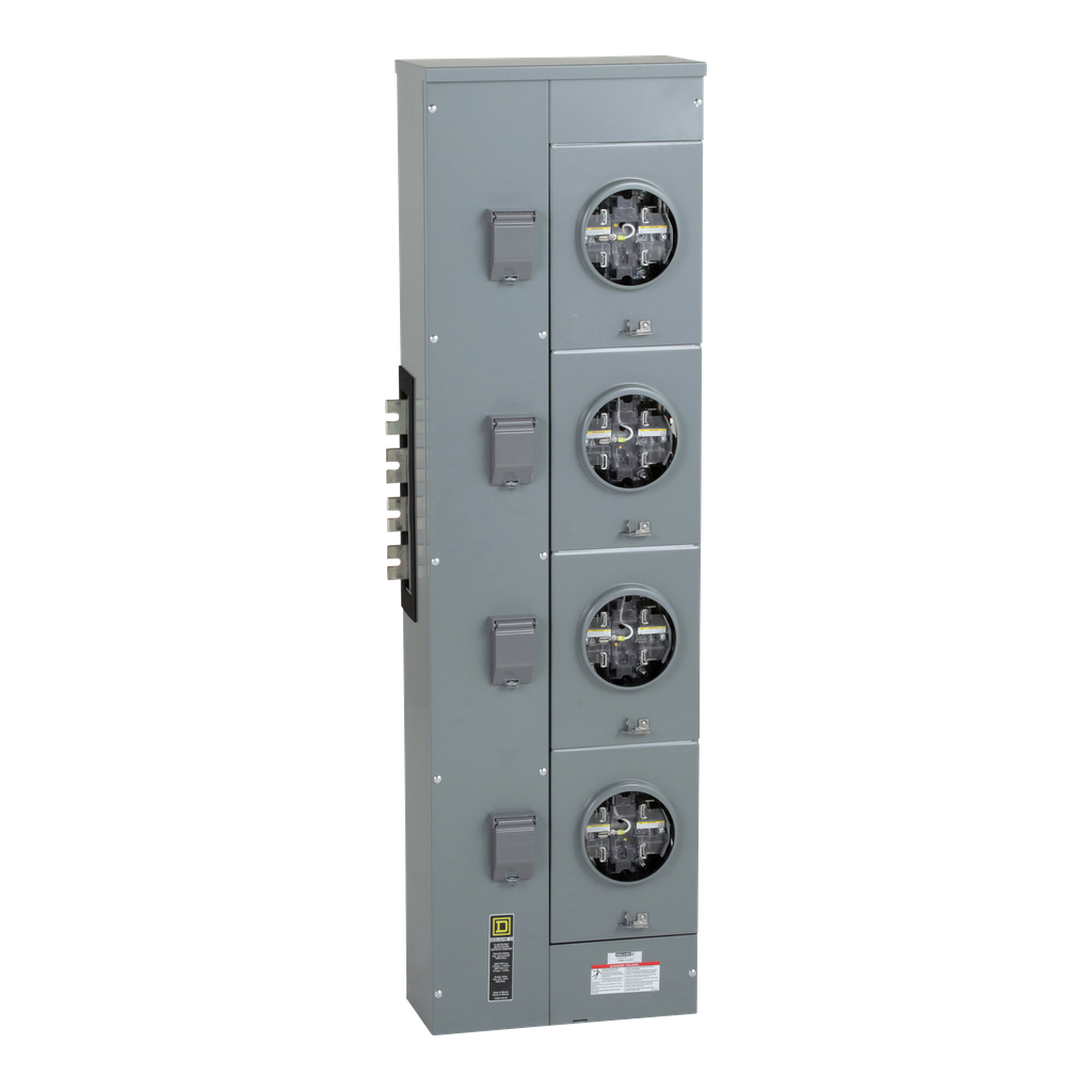 Square D EZML314225 208 Star/120 VAC 225 Amp 3-Phase 4-Wire Ringless Meter Center Branch Unit