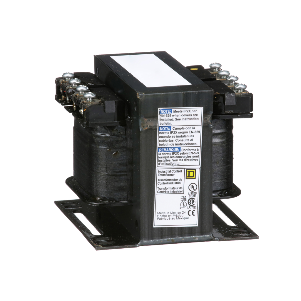 Square D 9070T150D18 150 VA 208/277/380 VAC Primary 95/115 VAC Secondary 1-Phase Control Transformer