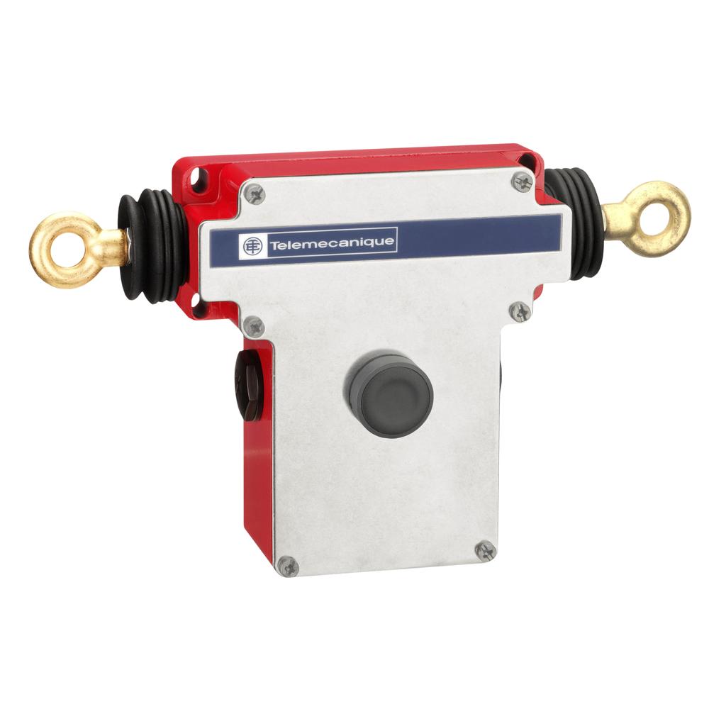 Dual e-stop rope pull switch - 2x(1NC+1NO) - Pg13.5 - flush pb