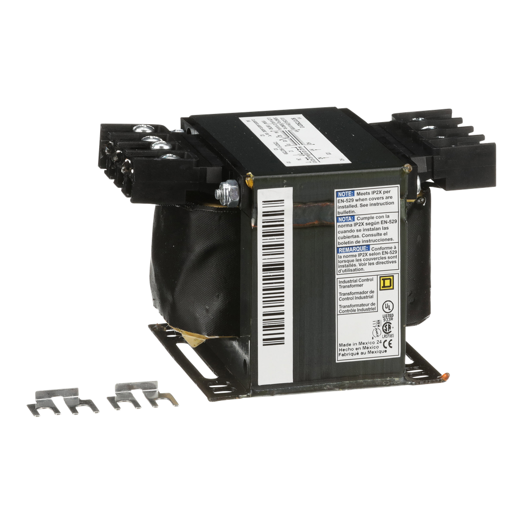 Square D 9070T250D13 250 VA 120 VAC Primary 12/24 VAC Secondary 1-Phase Control Transformer
