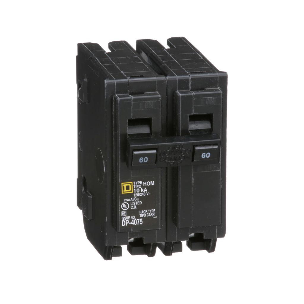 Square D Homeline HOM260 120/240 Volt 60 Amp Miniature Circuit Breaker