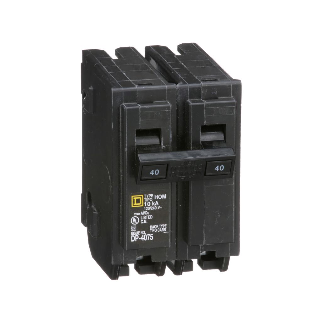 Square D HOM240 120/240 Volt 40 Amp Miniature Circuit Breaker